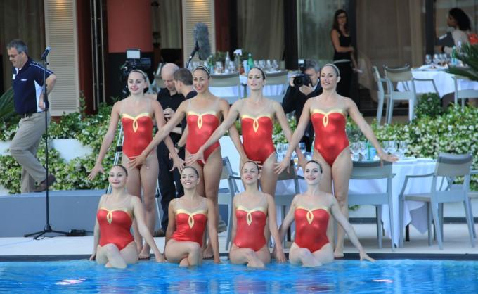 Ballet de nageuses aquatiques