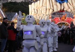 port de monaco, port de monte-carlo, space walkers, fin d'année, événement, danseurs, future